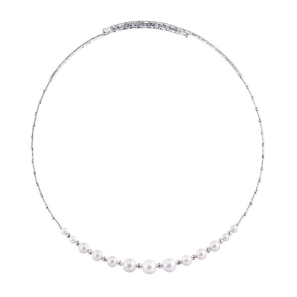 ポイント10倍キャンペーン ~2/17(月)9:59までK18ホワイトゴールドアコヤ真珠ネックレス