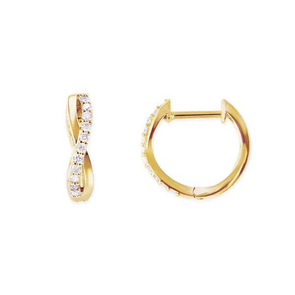【DEAL】 K18イエローゴールドダイヤモンドピアス
