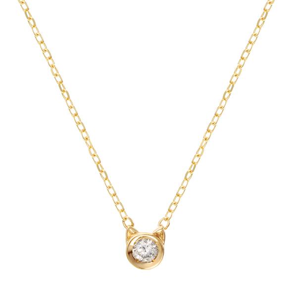 20%ポイントバック ~09/10(木)9:59まで【DEAL】 K10イエローゴールドダイヤモンドネックレス