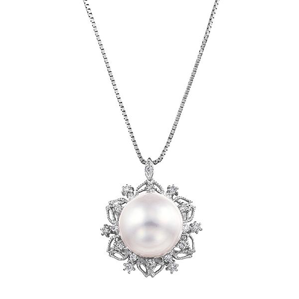 ポイント10倍キャンペーン ~5/18(月)9:59までプラチナ/K14ホワイトゴールド南洋真珠ネックレス(10mm)