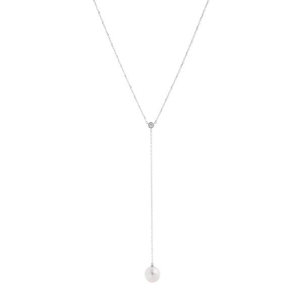ポイント10倍キャンペーン ~5/18(月)9:59までK18ホワイトゴールドアコヤ真珠ネックレス(8.5mm)