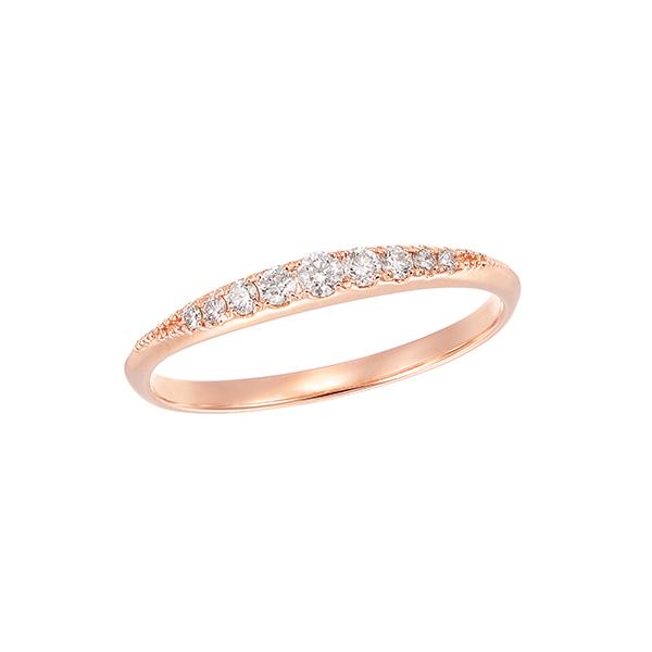ポイント10倍キャンペーン ~9/14(月)9:59までK18ピンクゴールドダイヤモンドリング