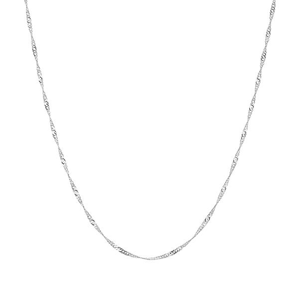 ポイント10倍キャンペーン ~9/14(月)9:59までK14ホワイトゴールドネックレス(50cm)