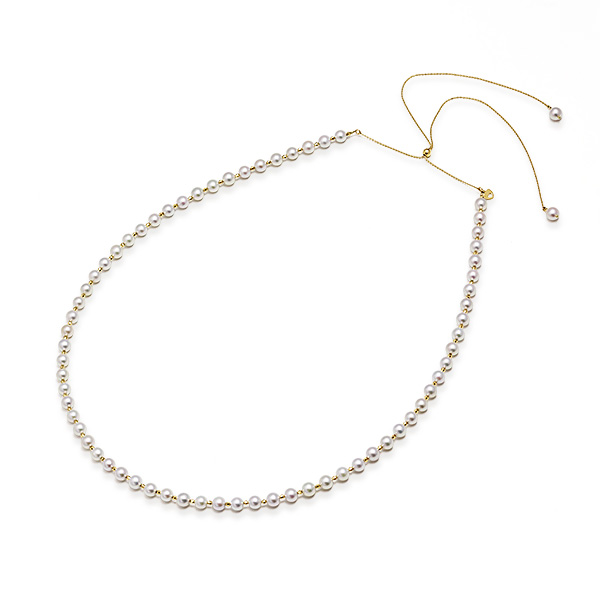 K18イエローゴールドアコヤ真珠ネックレスnO0kN8PwX
