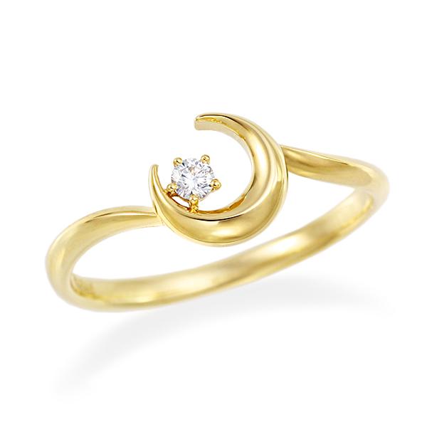 ポイント10倍キャンペーン ~5/18(月)9:59まで【SALE】 K10イエローゴールド鑑別書付ダイヤモンドリング