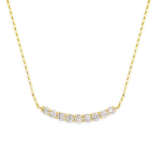 K18ダイヤモンドネックレス ダイヤモンド ネックレス【0.5カラット】