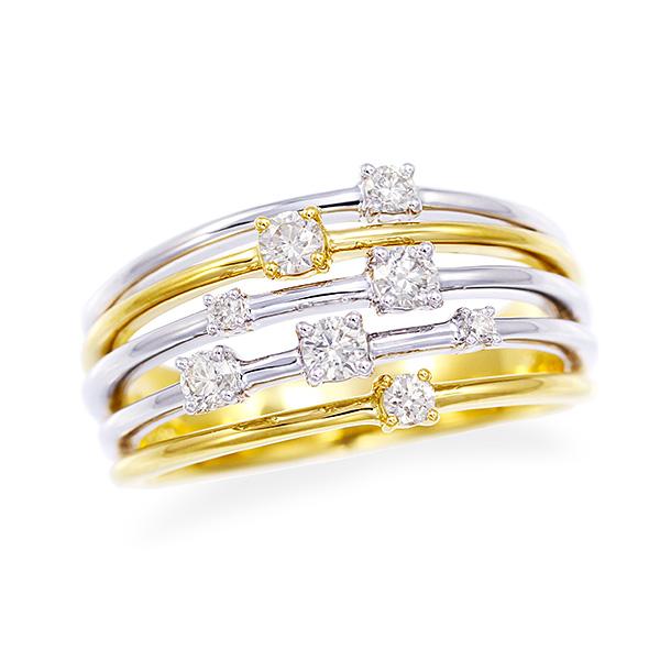 ポイント10倍キャンペーン ~5/25(月)23:59までプラチナ/K18イエローゴールドダイヤモンドリング