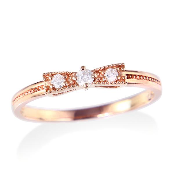 ピンクゴールドダイヤモンドリング ダイヤモンド リング【happy cherish jewelry】