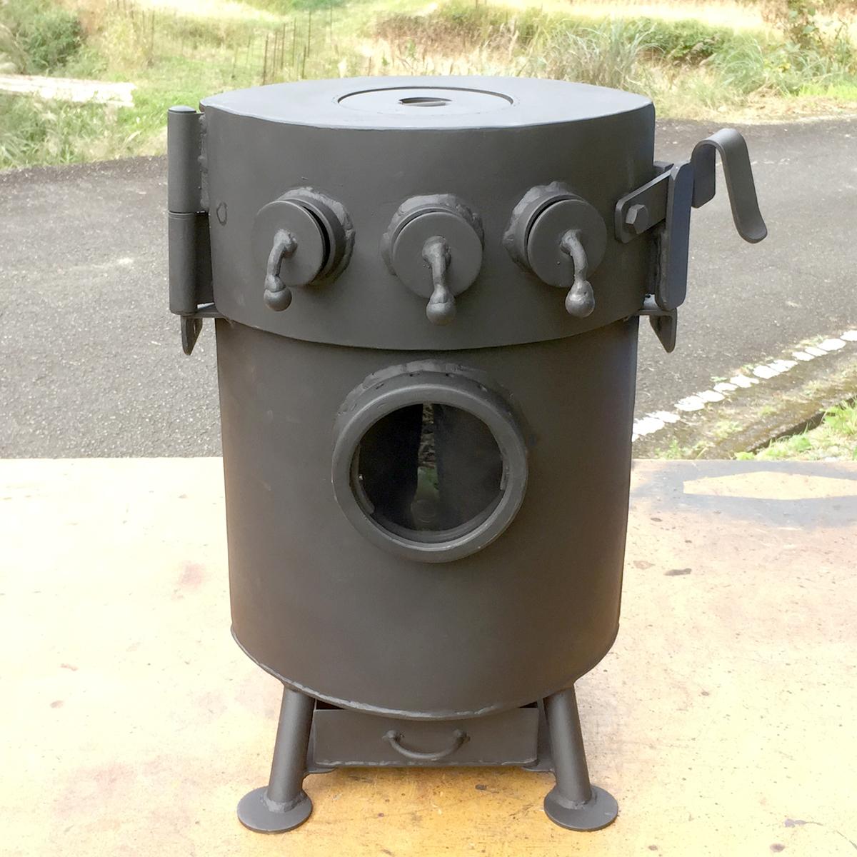 移動式かまどDELUXE煙突付き カマド 釜戸 竃 薪ストーブ ピザ窯 ロケットストーブ