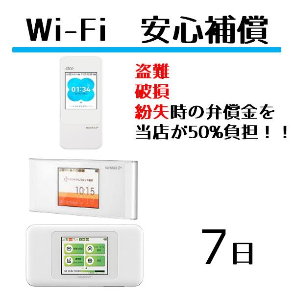レンタル Wifiルーター専用 安心補償Wifi ルーター ワイファイ レンタル用 w06 wimax Wifi 7日 春の新作続々 W06 定番 安心補償