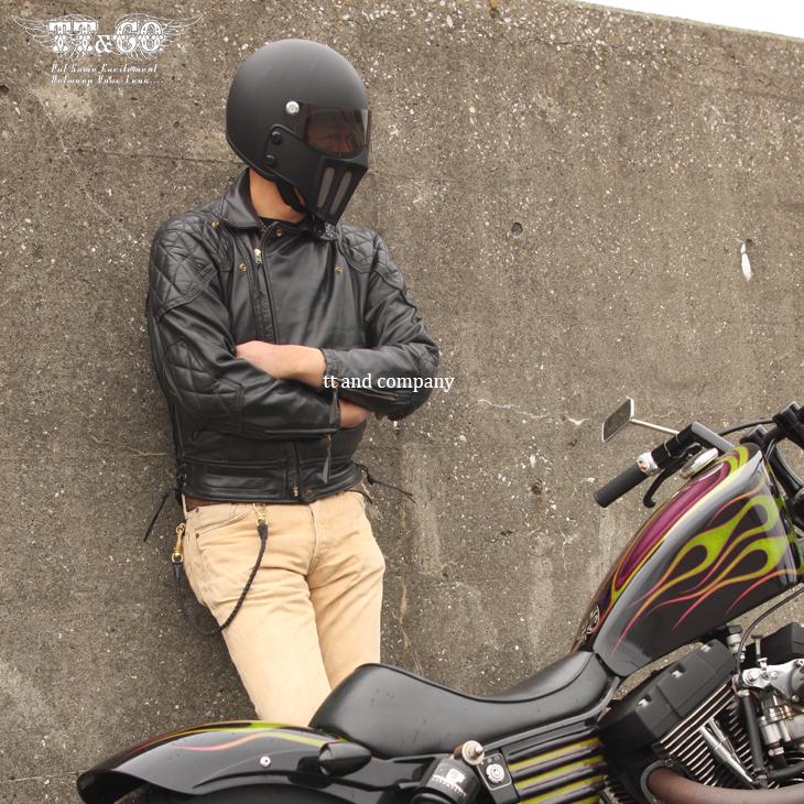 TT&CO. MAD MASSK-J02 JET HELMET BLACK JAPANESE STANDARD