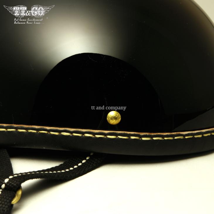 装饰的头盔鹰皮革 rim 镜头黑色皮革半盔 S,毫升 XLXXL