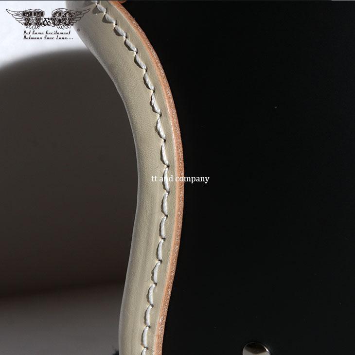 TT&CO. SUPER MAGNUM LEATHER RIM SHOT VINTAGE IVORY LEATHER 3/4 OPEN FACE MOTORCYCLE HELMET JAPANESE / DOT STANDARD