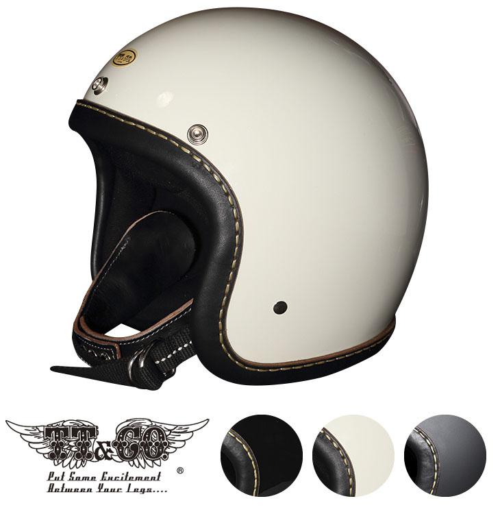 スーパーマグナム レザーリムショット ハンドソウン ブラックレザー スモールジェットヘルメット 乗車用 SG/PSC/DOT規格品