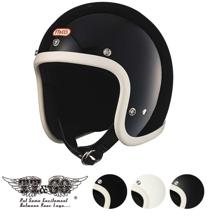TT&CO. スーパーマグナム アイボリーラバートリム スモールジェットヘルメット ビンテージ ジェットヘルメット SG/PSC/DOT M/Lサイズ57-58cm レトロ オープンフェイス
