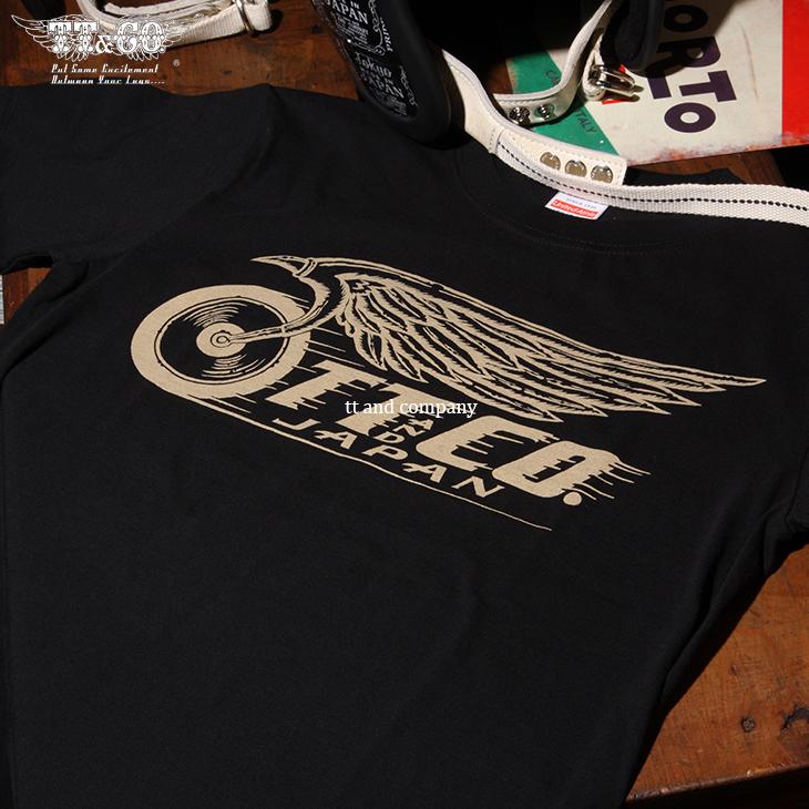 TT&CO. FLYING WHEEL T-SHIRT BLACK