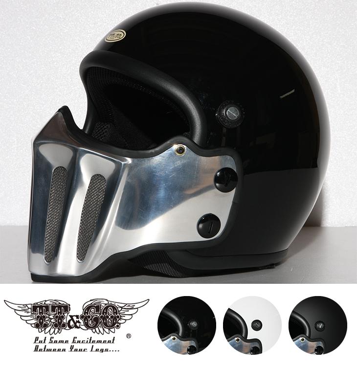 マッドマッスクJ02 ローマン アルミ マスク付 ジェットヘルメット SG/PSC規格品