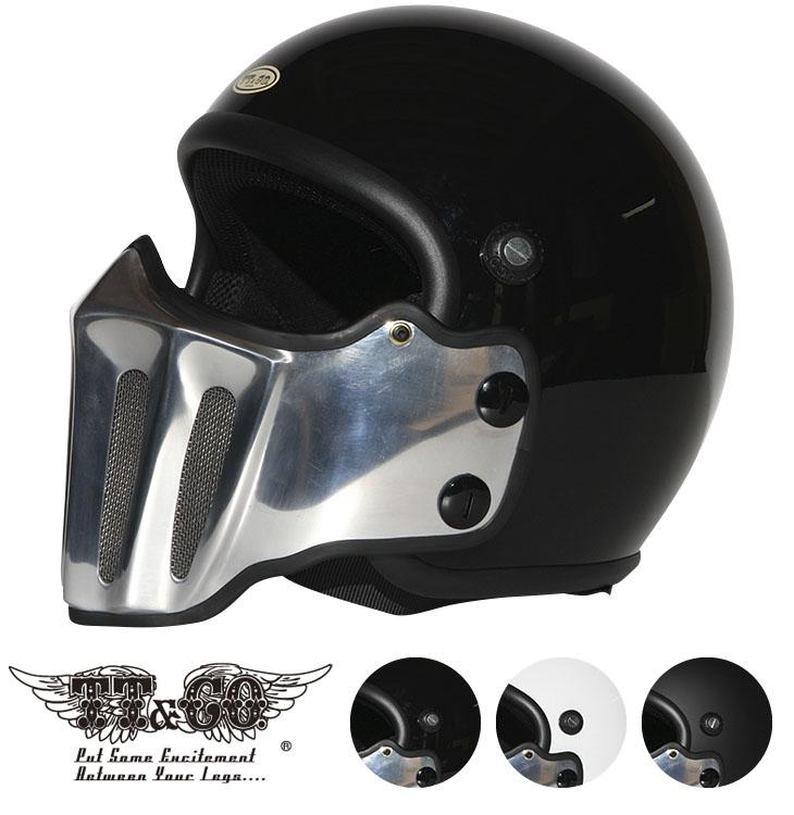 マッドマッスクJ02 ローマン アルミ マスク付 ジェットヘルメット ヴィンテージ マッドマックス ビンテージ ヘルメット SG/PSC 乗車用ヘルメット フルフェイス おしゃれ ハーレー