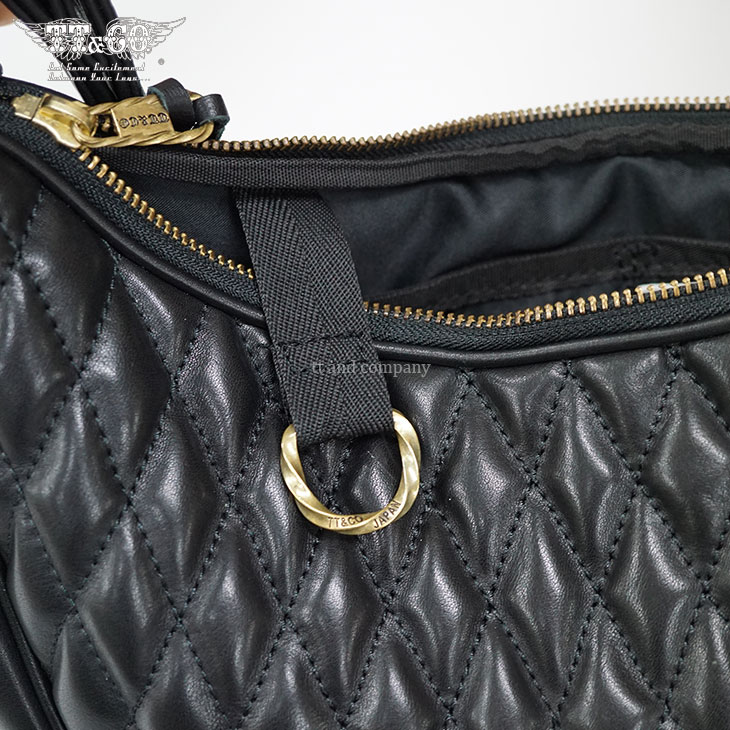 TT&CO. Banana 01 Shoulder Bag Genuine Leather Diamond