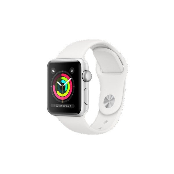 APPLE MTEY2J/A ホワイトスポーツバンド Series 3 GPSモデル 38mm Apple Watch