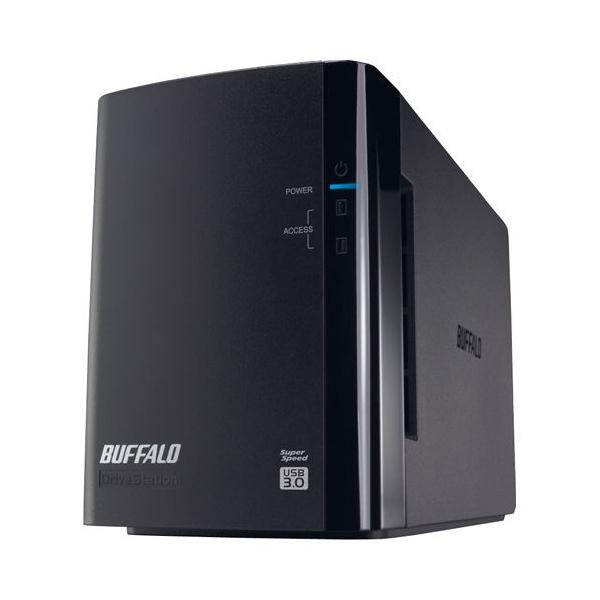 バッファロー ミラーリング機能搭載 USB3.0用 外付けハードディスク 2ドライブモデル 2TB