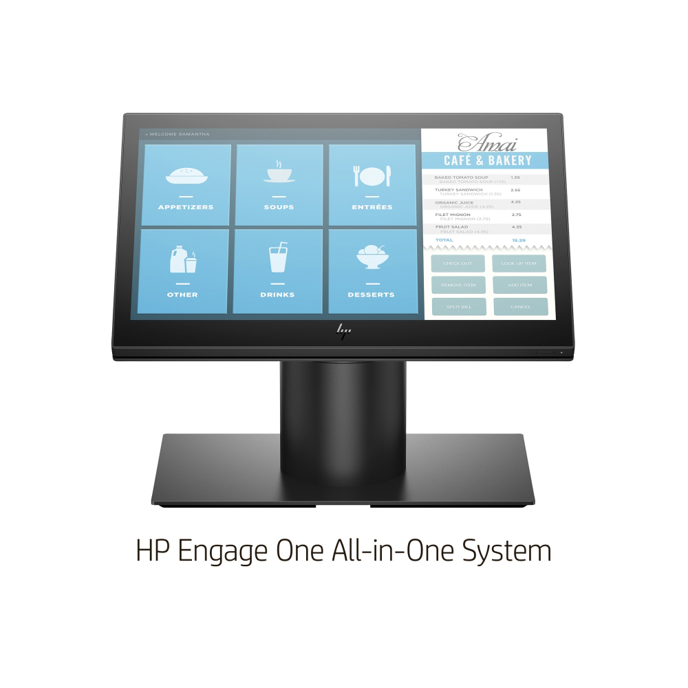 HP Engage One All-in-One System Model 141(CEL-3965U/8GB/SSD 128GB(M.2 SATA3 TLC)/14型ワイドタッチ/LAN/W-LAN/カウンタートップ/Win10 IoT Enterprise 2019 LTSC for Retail/ブラック)