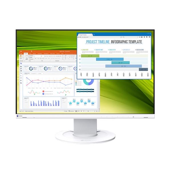 EIZO FlexScan 22.5インチカラー液晶モニター (1920x1200/DisplayPort (HDCP 1.3)、HDMI (HDCP1.4)、D Sub 15 ピン (ミニ)/ホワイト)[EV2360-WT]