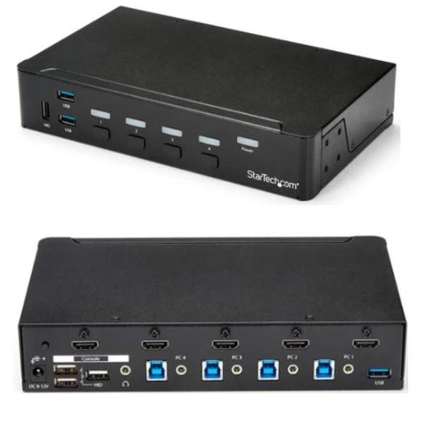 【激安セール】 StarTech.com [SV431HDU3A2] 4ポートHDMI KVMスイッチ(1080p) HDMI接続CPU・PCパソコン切替器 3ポートUSB 3.0ハブ, JOKnet 3220dd35