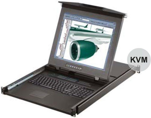 【超安い】 オースティンヒューズ [D119-S1601E] 1U デュアルスライド 19インチLCDモニター KVMスイッチ 106キーキーボード 1コンソール ドロアー [D119-S1601E] タッチパッドマウス PS/2&USBコンボ 16ポート KVMスイッチ 1コンソール, ギフトショップくんくん:c8d79b99 --- fotostrba.sk