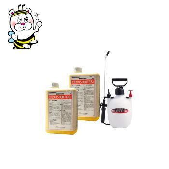 【2本買えば4L噴霧器無料プレゼント】ノミ・ゴキブリ駆除 殺虫剤 スミスリン乳剤ES 1L 2本