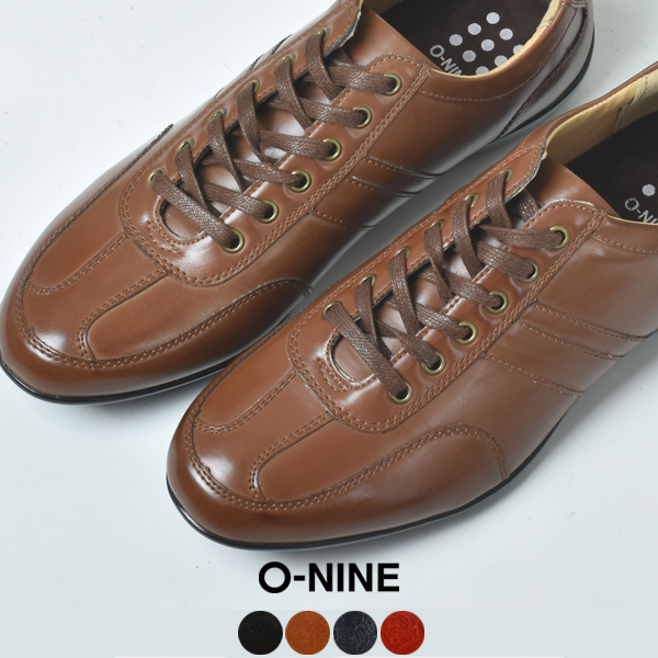 c10178286701fc スニーカーメンズ低反発インソールO-NINEオーナインOPT936-1ブラック黒ブラウン茶色