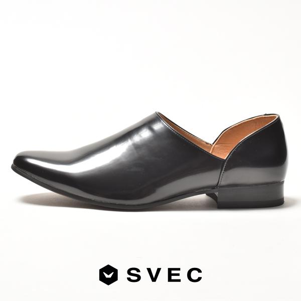 SALENEW大人気 ブランド SVEC シュベック スリッポン メンズ サンダル つっかけ ドクターシューズ ローファー おしゃれ ヒール スウェード スエード ブラック 2021 春 供え 春夏 革靴 黒 夏 カジュアルシューズ 皮靴