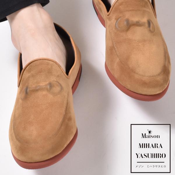 Maison MIHARAYASUHIRO メゾン ミハラヤスヒロ ビットローファー ローファー レザーシューズ 本革 炙り出し スリッポン A00FW101 ブラック コニャック グリーン メンズ 靴 シューズ シューズ おしゃれ sale セール バーゲン アウトレット 在庫処分 新生活 2019 春 夏