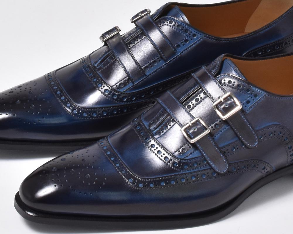フランチェスコベニーニョ 革靴 FRANCESCO BENIGNO ビジネスシューズ メンズ 本革 レザーシューズ スリッポン 紐靴 G3799-CB31 ネイビー 紺 くつ メンズ 紳士靴 男性の クールビズ 入学式 2019 春 夏