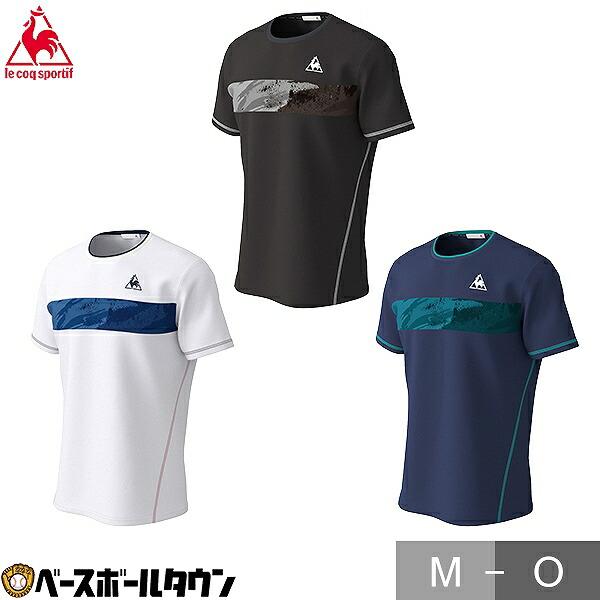 le coq 新着セール sportif ルコック 半袖シャツ メンズ QTMPJA12 テニスウェア JTA公認 Tシャツ 激安格安割引情報満載 テニス