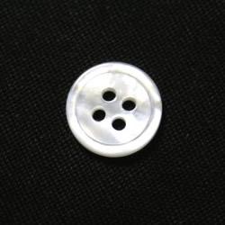 白蝶貝 信用 11.5mm高級ハンドメイドシャツで使われる高級素材 メール便120円 国内在庫 17型白蝶貝ボタン スーツボタン専門店のこだわり特注シェルボタン シャツボタン 単品 11.5mm