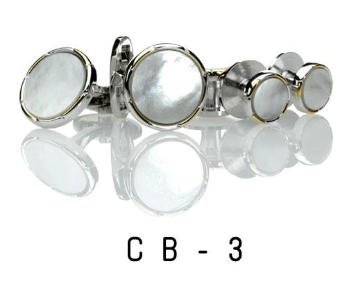 白蝶貝・カフス16.CB-3(※カフスのみ) カフリンクス