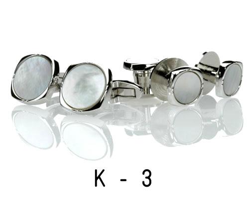 白蝶貝・シルバー・カフス22.K-3(※カフスのみ) カフリンクス