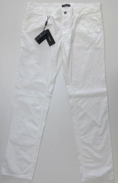 メンズ ドルチェ&ガッバーナ コットンパンツ ドルガバプレート ホワイト 56