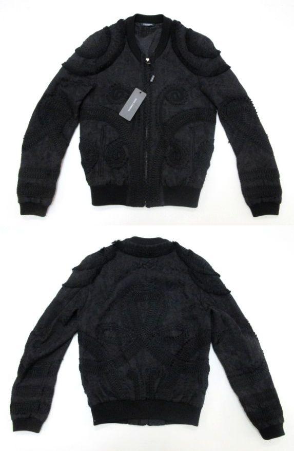 メンズ ドルチェ&ガッバーナ 刺繍 ジャンパー ブラック 44