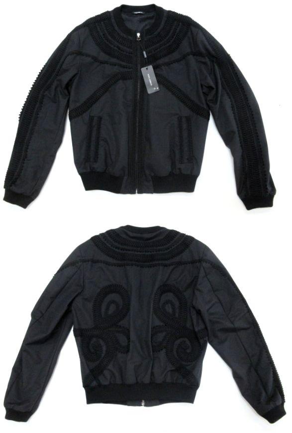 メンズ ドルチェ&ガッバーナ 刺繍 ジャンパー ブラック 56