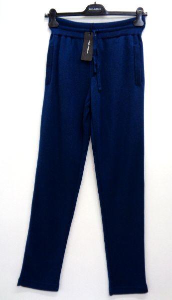 メンズ ドルチェ&ガッバーナ カシミア スウェット パンツ ブルー S