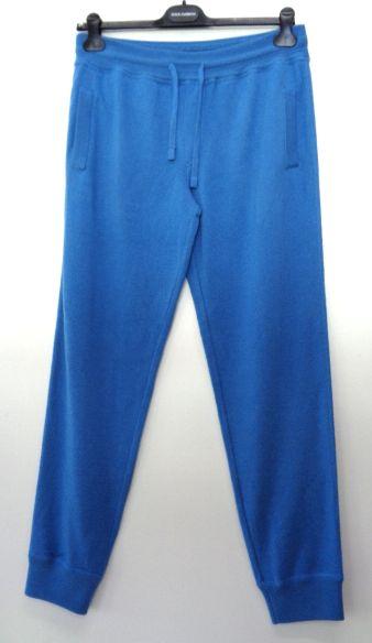 メンズ ドルチェ&ガッバーナ カシミア リブ スウェット パンツ ブルー XL