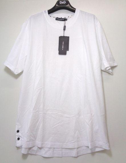 メンズ ドルチェ&ガッバーナ アップリケ Tシャツ ホワイト 54