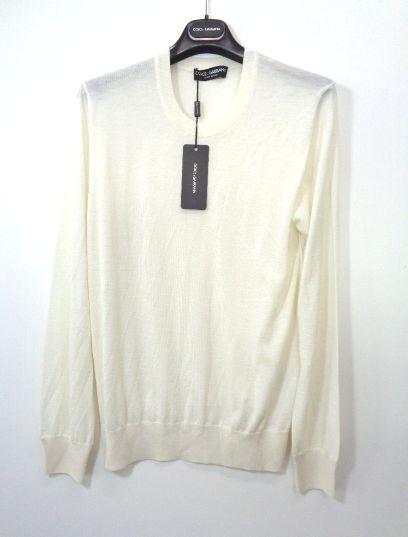 メンズ ドルチェ&ガッバーナ カシミア セーター オフホワイト 56