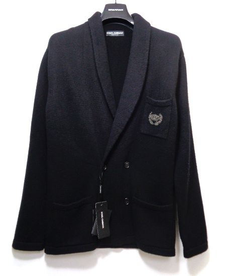 メンズ ドルチェ&ガッバーナ カシミア セーター ジャケット ブラック 48