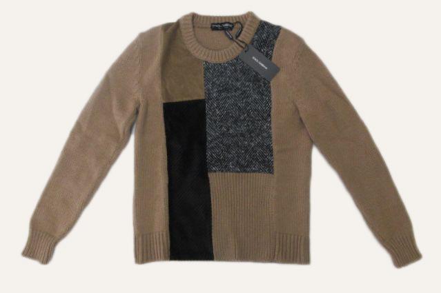 メンズ ドルチェ&ガッバーナ キャメル セーター 54