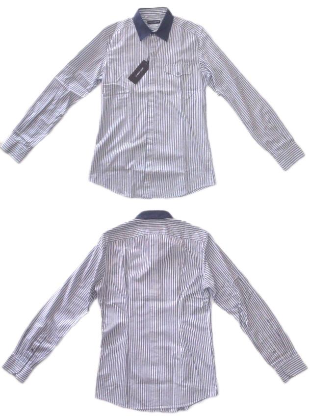 メンズ ドルチェ&ガッバーナ SICILIA カジュアルシャツ ストライプ 40