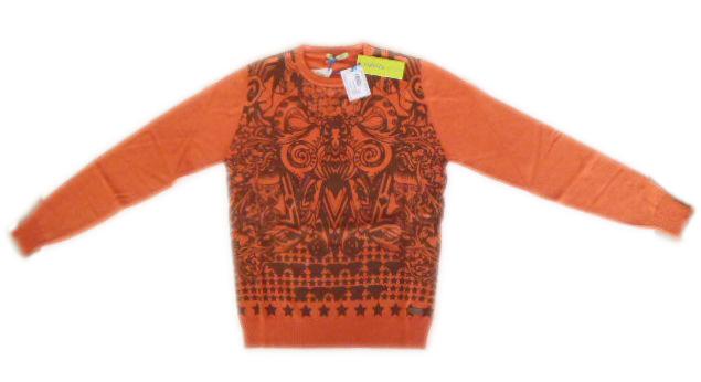 メンズ ヴェルサーチ セーター オレンジ L