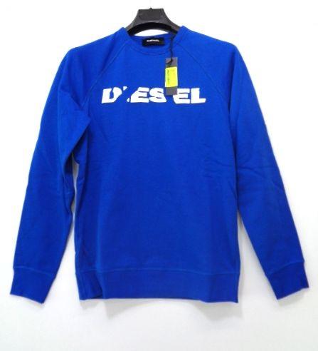 特別価格 ☆送料無料☆ 当日発送可能 DIESEL Men's パーカー メンズ 海外並行輸入正規品 ディーゼル ブルー XXL トレーナー プリント